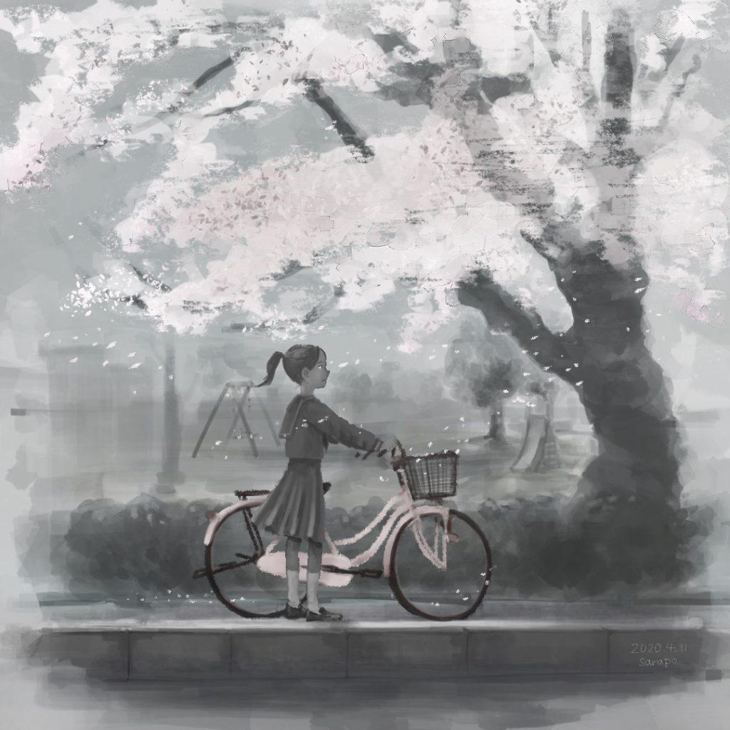 桜色の自転車に乗っていくのだ